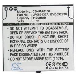 Аккумуляторная батарея Cameronsino i-mate SPL Li-ion 1100mah
