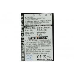 Аккумуляторная батарея Cameronsino Sharp EA-BL06 Li-ion 900mah